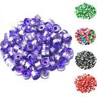Wholesale 100 Pcs Multi-Color Aluminum Cylinder Charm Spacer Loose Beads 6x4 mm