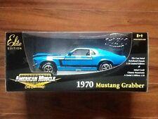 ERTL 1/18 AMERICAN MUSCLE 1970 BLUE MUSTANG GRABBER ELITE EDIT. 1/ 2500  # 33963