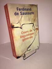 Cours de linguistique générale par Ferdinand de Saussure