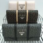 GUESS Women's Wallet *Nichols SLG* Natural/Coal/Blush w/ G Logo Clutch New
