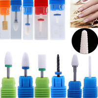 Nail Art Drill Bits Ceramic Cuticle Clean Burr Manicure Pedicure Polishing Tool