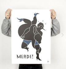 """by Parra Merde poster Print 28""""x20"""" SOLD OUT nike rare Paris Amsterdam French"""