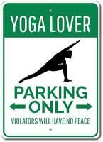 Yoga Lover Parking Only Sign Aluminum Metal Wall Decor Gift Idea ENSA1002736