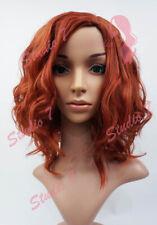 W100 Copper Red Shoulder Length Curl Beach Waves Wig Natural Look - studio7-uk