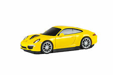Porsche 911 Carrera S Car Wireless Laser Computer Mouse - Yellow