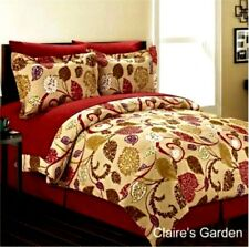 "New Manhattan Lights 8 Pc Bed In A Bag ""Claire'S Garden"" King Comforter Set"