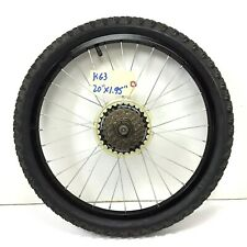 "20"" Rear Bicycle Black Wheel, 6-Speed Freewheel 1.95"" Tire Kids MTB Bike #k63"