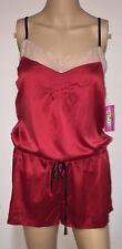 Nwt Vintage Cosmopolitan Red Shiny Liquid Satin Teddy Lingerie Sissy 1 Piece M