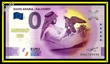 0 euro Souvenir Saudi Arabia Falconry 2021 Arabie Saoudite SAAC Anniversary
