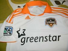 HOUSTON DYNAMO white MLS soccer jersey t shirt youth L ADIDAS CLIMACOOL