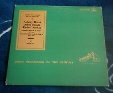 BRAHMS HORN TRIO / VIOLIN SONATA BRAIN  BUSCH  SERKIN UK LP HMV COLH 41 + BOOKLE