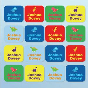 Stick On Clothes Name Labels Dinosaur, Stick on Care Label for School Uniform