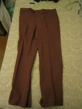 Vintage berta sawyer Bentley Plaid Pants Mens 37 X 31.5