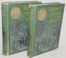 DUTCH TEXT: Stanley in Afrikas Donkere Wildernissen 1890 Vols 1 & 2 ~ Not Ex-Lib