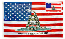 Wholesale Combo 3x5 USA American Gadsden Don't Tread On Me Flag & License Plate
