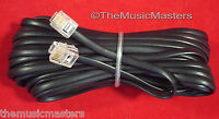 Black 25' ft Telephone Modular Line Cord Phone Cable Extension Wire RJ11 VWLTW