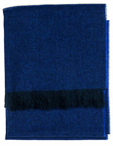 Kiton Scarf IN Blue With Dark Blue Fringes from Cashmere RegEUR280