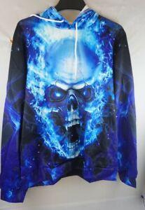Skull Horror Nightmare Halloween Hoodie With Pockets New (Read Details)