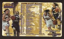 James Madison Dukes--2006-07 Basketball Magnet Schedule
