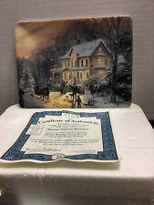 Bradford Exchange Thomas Kinkade CollectorPlate Victorian Christmas Memories #23