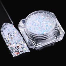 Snowflake Powder Hexagon Nail Sequins Stripe Paillette Flakes DIY BORN PRETTY