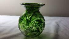 Exmoor British studio glass green vase