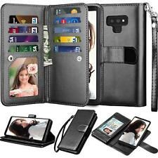 For Samsung Galaxy Note 9/ 8/10 Plus/S7/S8/S9/S10 Plus Leather Wallet Case Cover