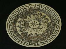 STRIKING DISPLAY PLATE Greek Key Pattern Hand Painted FRANCESCA PORCELAIN
