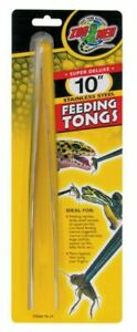 "Zoo Med Labs Stainless Steel Feeding Tongs - 10"""