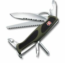 New Green Black Ranger Grip Victorinox Swiss Army Folding Pocket Knife 130 mm