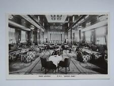 QUEEN MARY Cunard nave ship liner paquebot lloyd old postcard main lounge