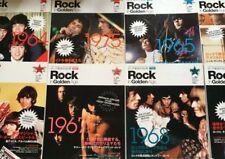 ROCK IN GOLDEN AGE Japan Magazine 8 Set Beatles Queen Rolling Stones Kiss Who FS