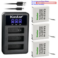 Kastar Battery Triple USB Charger for SJCAM SJ6 Legend 4K Sport Action Camera