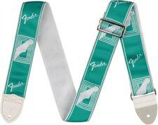 "Genuine Fender® 2"" Monogrammed Custom color Strap Sea Foam Green 099-0627-085"