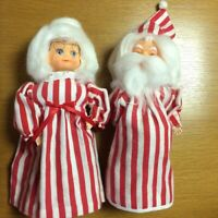 Vintage Mr. and Mrs Santa Claus Figures Made From Dish Soap Bottles