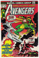 (1973) THE AVENGERS #116 VISION vs THE SILVER SURFER! AVENGERS Vs DEFENDERS WAR!
