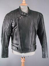 Clásico Negro Blitz Leathers Biker Jacket 40 Pulgadas