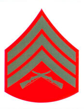 US Marine Corps E-5 SGT Sergeant (Green) Rank Decal 3 Inches Wide