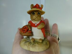 Teviotdale Bunny Rabbit wearing poppies in her hat. Ornament. signed