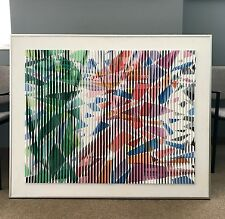 "LARGE 3D POLYMORPH ALLEN SIMON PAINTING ""HOMAGE TO FRANZ KLINE"" MANNER OF AGAM"