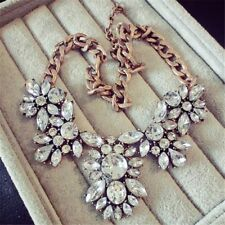 Necklaces Alloy Collier Statement Vintage Rhinestone Jewelry Crystal Necklace