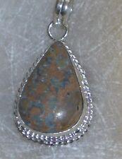 "Handmade Vintage Sea Sediment SOLID Sterling Silver Pendant 2 1/2"" VERY COOL!!"