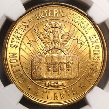HK-268, 1895 Cotton States Expo Official Medal, GEM BU NGC MS-65