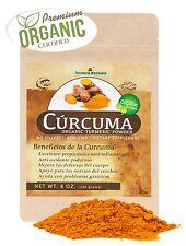 Curcuma Organica en Polvo de la India- 100% Pure Organic Turmeric Powder 8 Oz