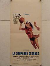 LA COMPAGNA DI BANCO regia Mariano Laurenti locandina originale 1977