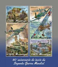 Mozambique - 2019 World War II - 4 Stamp Sheet - MOZ190121a