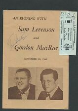 SIGNER AND ACTOR GORDON MACRAE SIGNED, ROGERS & HAMMERSTEIN, OKLAHOMA, CAROUSEL