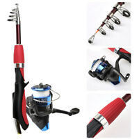 Professional Carbon Fiber Telescopic Fishing Rod Travel Spinning Rod Pole 1.4m
