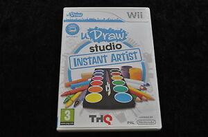 U Draw Studio instant Artist Nintendo wii Game