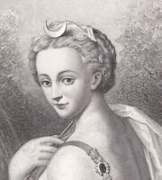 Portrait XIXe Diane de Poitiers Anet Henri II Duchesse de Valentinois Gavard